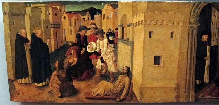 Colantonio, s. vincenzo ferrer e sue storie, 1460 ca., da s. pietro maggiore 06. Galleria Napoletana (Museo di Capodimonte).