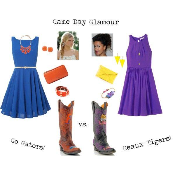 Florida vs. LSU Game Day Fashion #gameday #fallstyle #cowboyboots