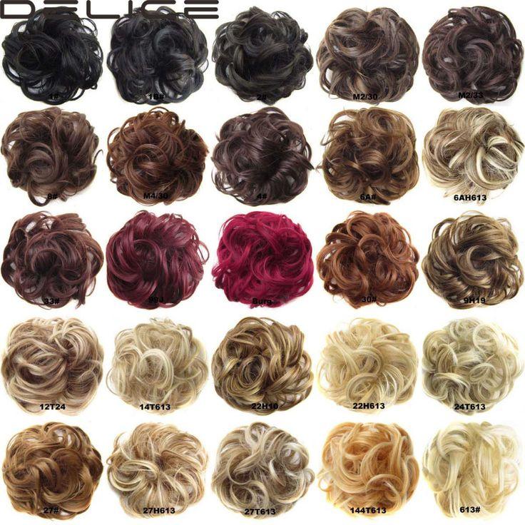 נשים של גל מתולתל גומיית גלישה עבור לחמניית שיער סינטטי גמיש Hairring או קוקו, שיער טבעת שיער הפאה DELICE Q5-1