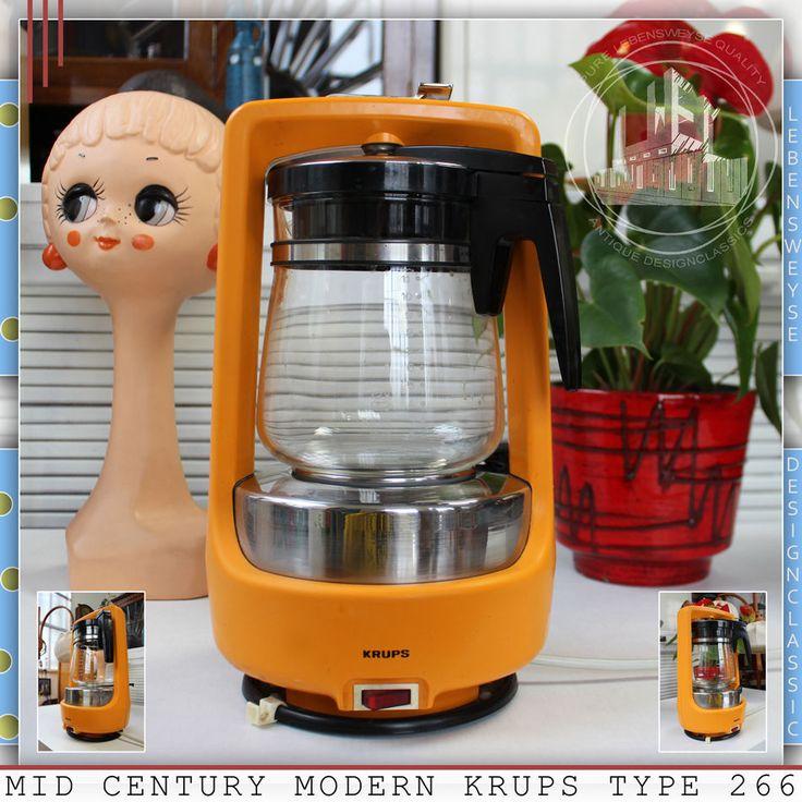 KRUPS VINTAGE MID CENTURY MODERN COFFEE DISPENSER MAKER MACHINE WEGNER PANTON ÈR