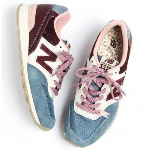 New Balance WR996UD wine red light blue white retro women shoes