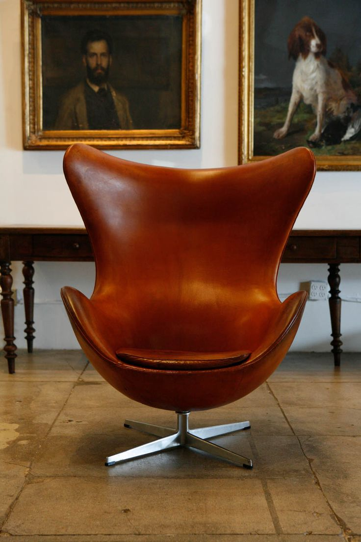 Arne Jacobsen Cognac Egg Chair, Denmark 1966 | From a unique collection of antique and modern chairs at http://www.1stdibs.com/furniture/seating/chairs/