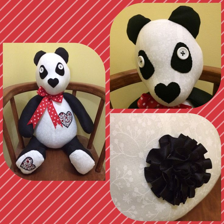 A personal favourite from my Etsy shop https://www.etsy.com/uk/listing/512226465/panda-bear-toy-patchwork-stuffed-toy