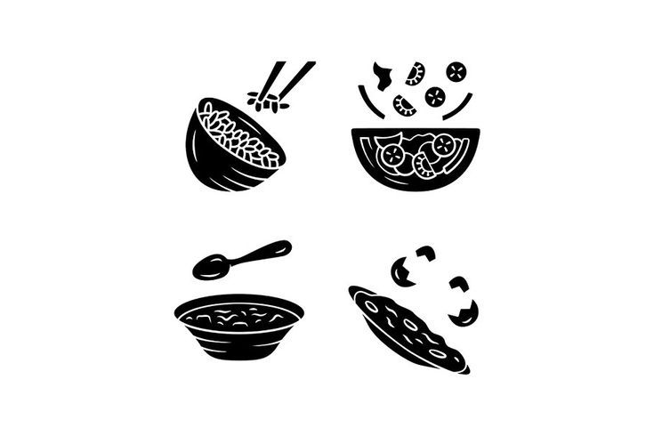 Soup Icon Drawing Organic Recipes Glyph Icon Supper Restaurant