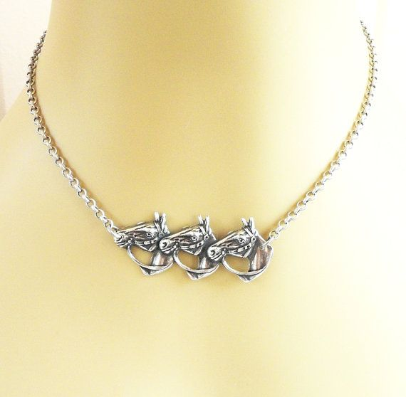 Steampunk Horse Necklace Sterling Silver Ox