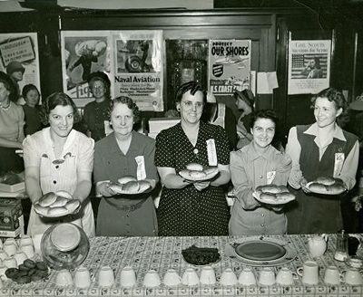 The Canteen in North Platte Nebraska. The North Platte Canteen met its first troop train on December 25, 1941. Baskets of goodies were prepared across the street from the depot at the Cody Hotel. When it arrived, the troops had to stay on the train for security reasons, so the women handed the cookies, fruit, cigarettes, and magazines up through the windows.