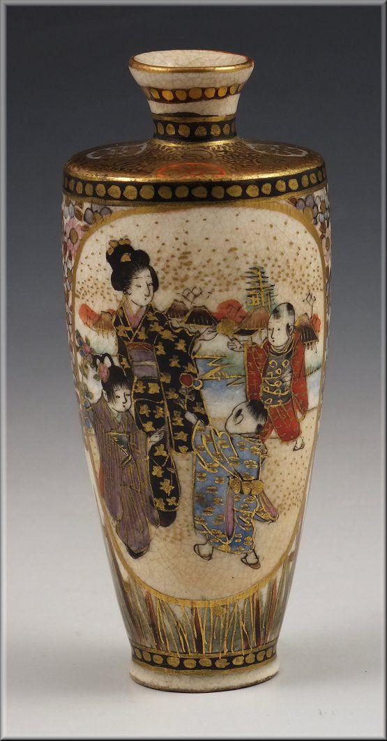 240 Best Images About Satsuma On Pinterest Porcelain Vase Miniature And Pottery Vase