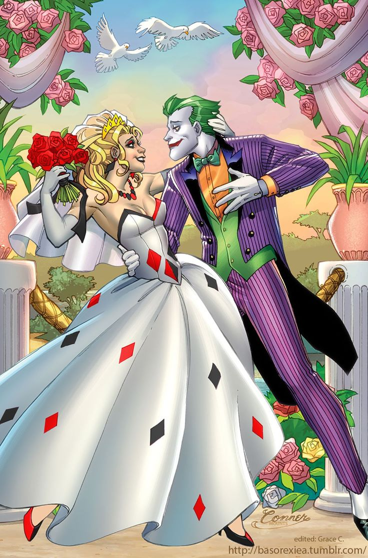 Quinn Comics for   online Jokers  Poster Quinn purses and DC The  amp  Harley Joker The sale Joker Harley Wedding