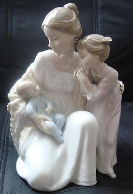 Nwob Mother AND Children Lladro Figurine Hand Made IN Spain 6939 | eBay