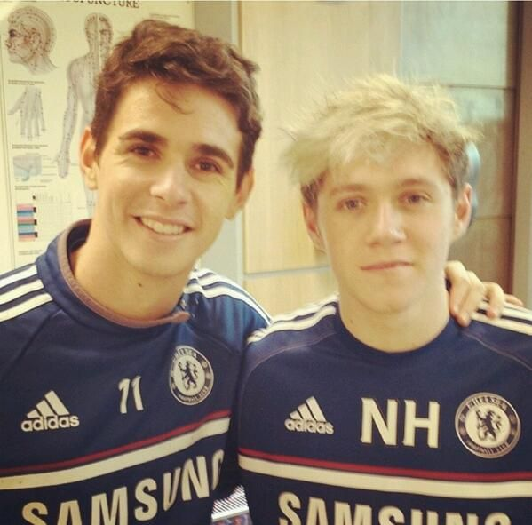 Niall with Oscar Emboaba (from Chelsea FC) recently!