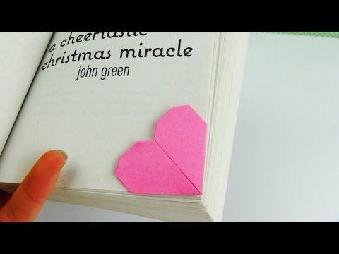 Origami Lesezeichen selber machen: mit diesem Trick geht es im Nu | DIYDEKOIDEEN | diy ideen – deko – bastelideen – geschenke – dekoration