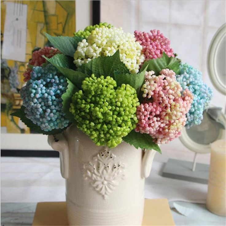 >> Click to Buy << Hot Sale 10pcs/lot Hydrangea Fruit Artificial Flowers For Wedding Decoration Dlores PU Artificiales Bouquet Wedding Fake Flowers #Affiliate