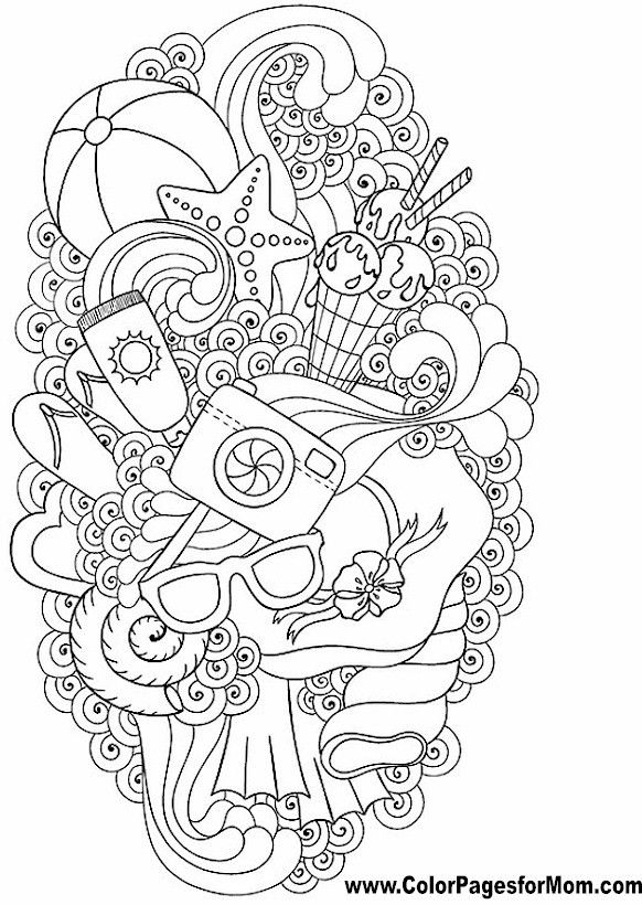 25 best ideas about beach coloring pages on pinterest for Summer themed coloring pages