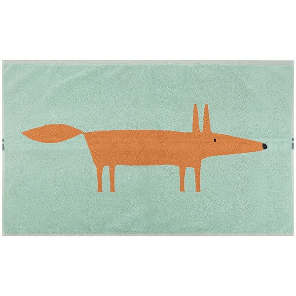 Scion Mr Fox Bath Mat - Aqua ($35) ❤ liked on Polyvore featuring home, bed & bath, bath, bath rugs, green, aqua rug bath mat, green bath mat, green bathroom rugs, aqua bathroom rugs and aqua bath mat