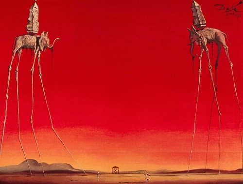 Les Elephants by Salvador Dali
