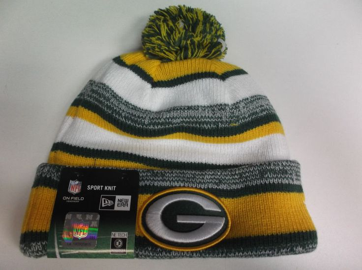 Youth Green Bay Packers Green Basic Cuffed Knit Hat With Pom