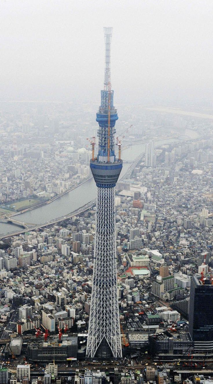 Tower - Tokyo Skytree in Tokyo, Japan is 2080 feet tall ...