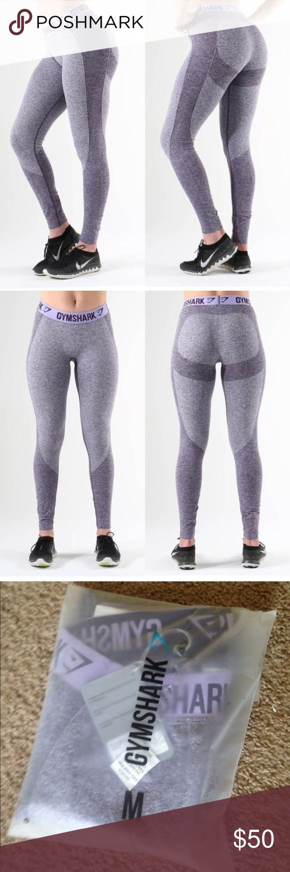 NWT Gymshark flex leggings Purple marl/soft lilac Gymshark flex leggings. Size medium. NEW WITH TAGS! Only tried on. Will ship quickly :) Gymshark Pants Leggings