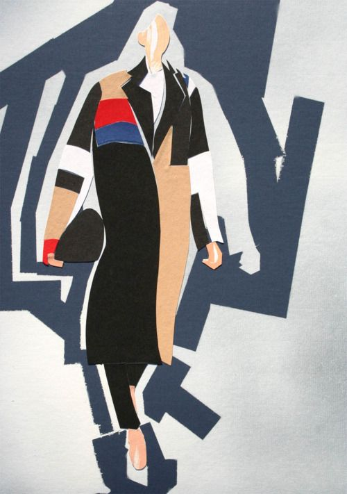 Celine A/W 2012. Illustration by James Norris for Pret-A-Rever.com