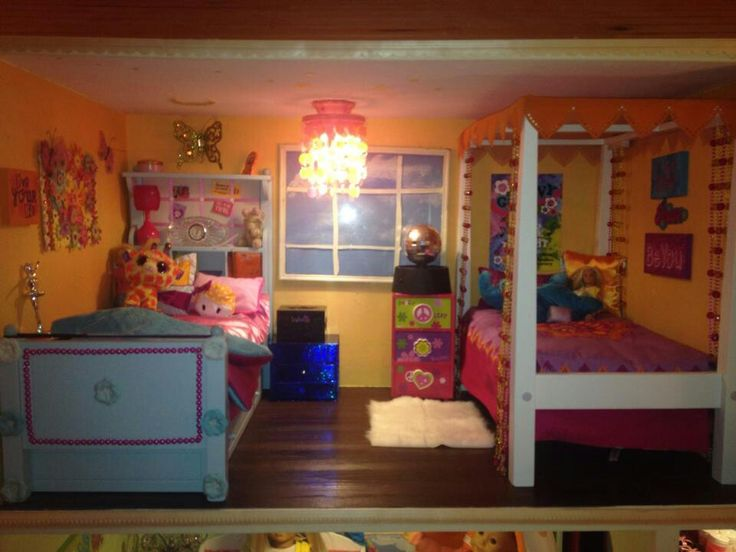 American girl bedroom with diy boutique bed. 128 best DIY bedroom ideas and inspiration American Girl Dollhouse