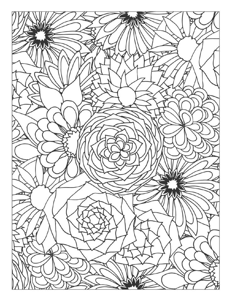 Flowers Coloring Book Jepsen Best Images About Pages On Dovers