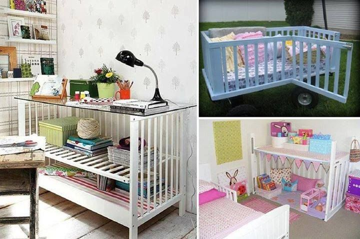Inspirations for reusing an old crib