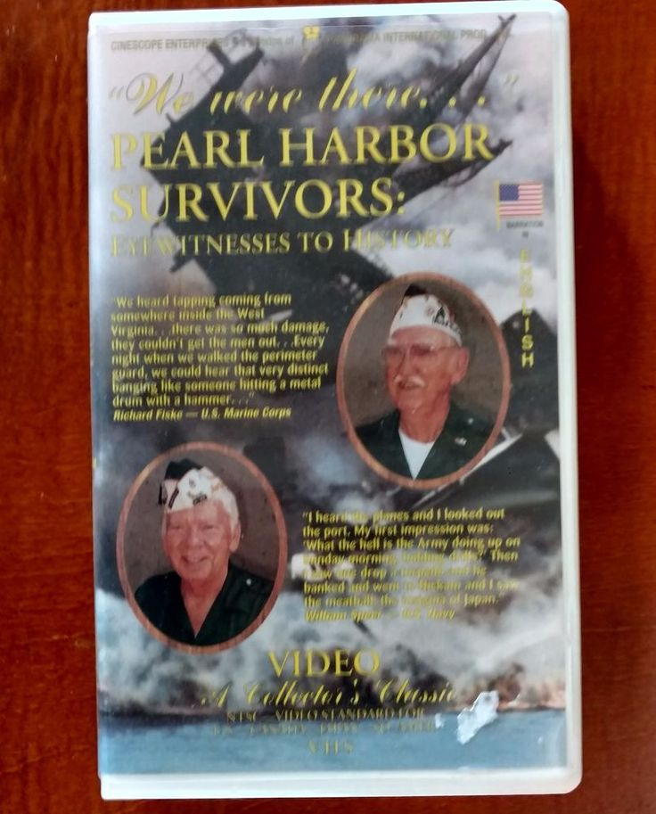 We Were There.Pearl Harbor Survivors: Eyewitnesses to History VHS tape. | eBay!