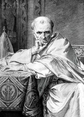 St. Gregory VII, named Hildebrand (1025-1085), was one of the greatest of the Roman pontiffs and one of the most remarkable men of all times. He led the 11th Century movement now known as the Gregorian Reform or Investiture Controversy, which required a non-married prieshood.