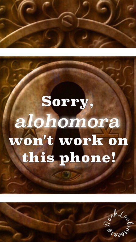 Lo siento, Alohomora no funciona en este teléfono xp