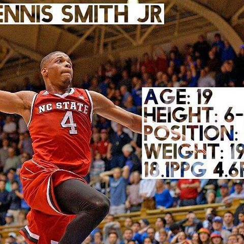 It has been said that he has on of the highest ceilings in the draft and sonee Russell Westbrook comparisons have even been made, where do you think he will go? I will be doing on of these for all of the top NBA draft prospects. #dennissmithjr#ncstate#nba#nbadraft#basketball#pointguard#knicks#magic#sacramentokings#kings#nyknicks#dallasmavericks#mavericks#ballislife#infographic#dennissmith#nyknicks#kingsnation