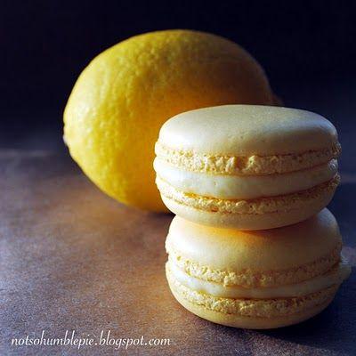 Lemon Marscapone Macaroons - plus really good tips on making macaroons    (notsohumblepie.blogspot.com)