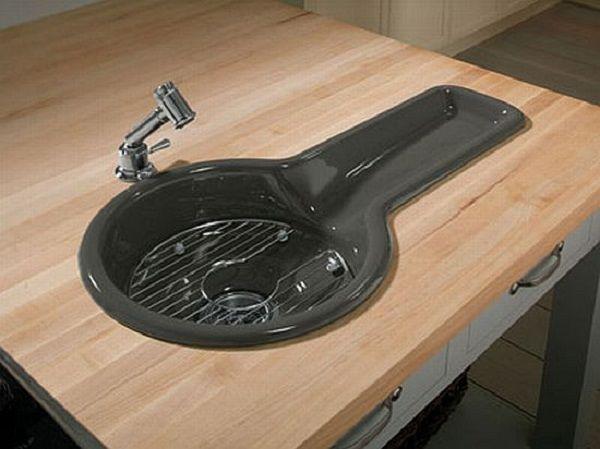 Kohlersu0027s Bordelaise Sink   16 Creative And Modern Kitchen Sink Ideas