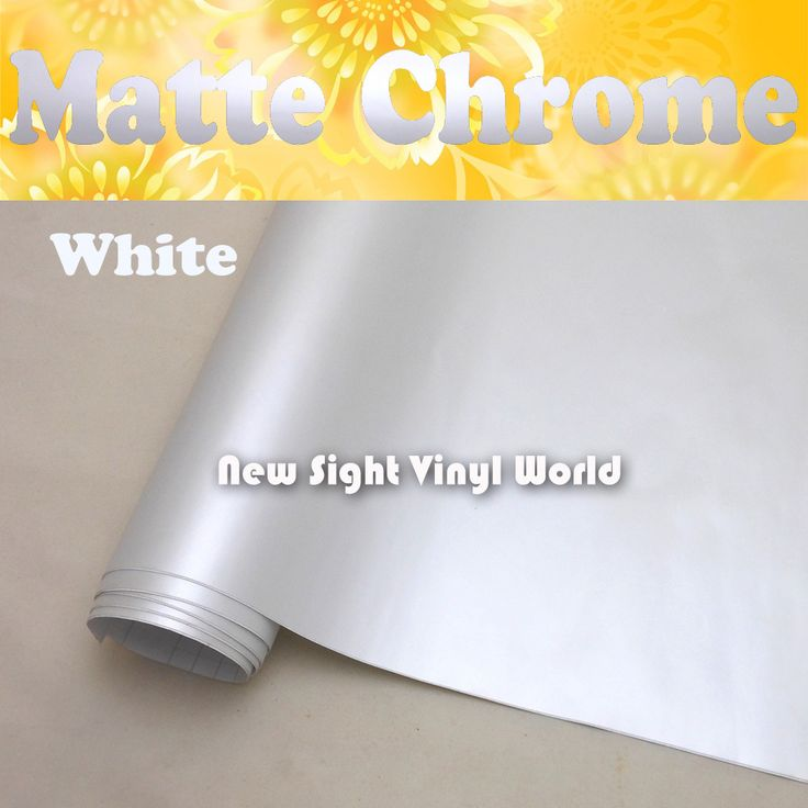 ==> [Free Shipping] Buy Best Top Quality Matte Chrome White Vinyl Wrap White Matte Chrome Wrap Air Free For Car Wrapping Size:1.5220M/Roll (5ft x 65ft) Online with LOWEST Price | 32263128052