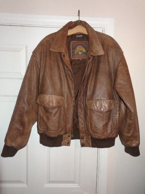 bcd17fae0e0 Adventure Bound by Wilsons Leather Flight Bomber Jacket -Distressed Brown  LARGE!  WilsonsLeather  Bomber