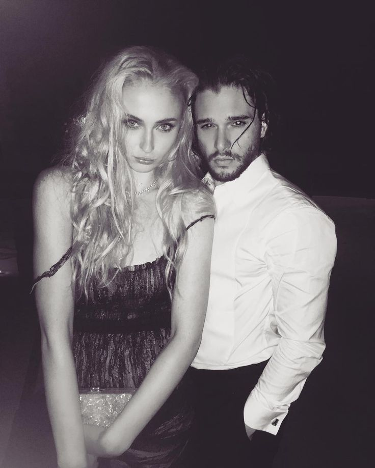 In the meanwhile #game of thrones #kit harington #sophie turner                                                                                                                                                                                 More