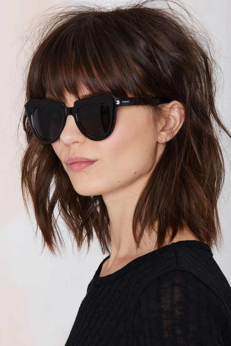 Phenomenal 1000 Ideas About Bangs Medium Hair On Pinterest Medium Short Hairstyles Gunalazisus