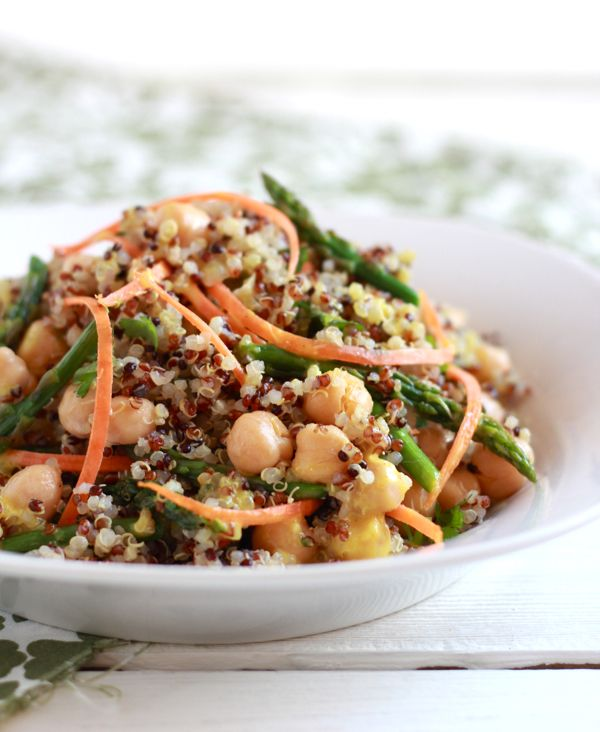 curried quinoa + asparagus salad - The Clever Carrot