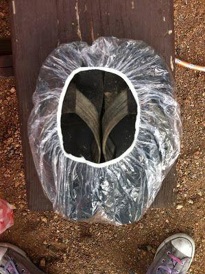 шапочка для душа для упаковки грязной обуви