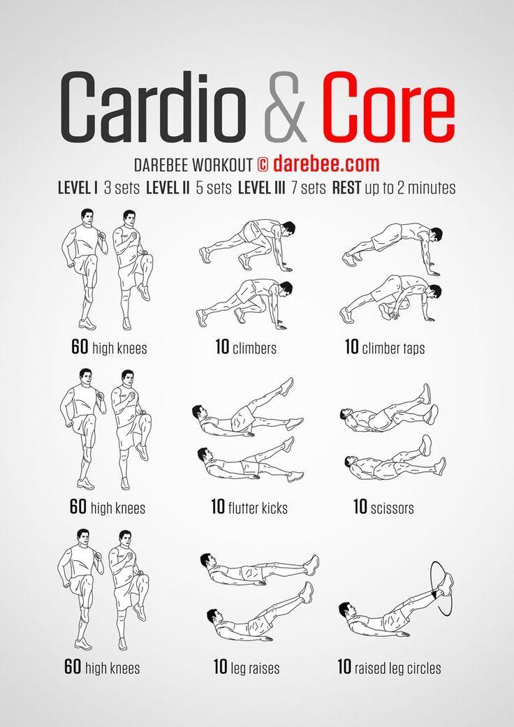25 + › Cardio & Core – Darebee-Training – fit
