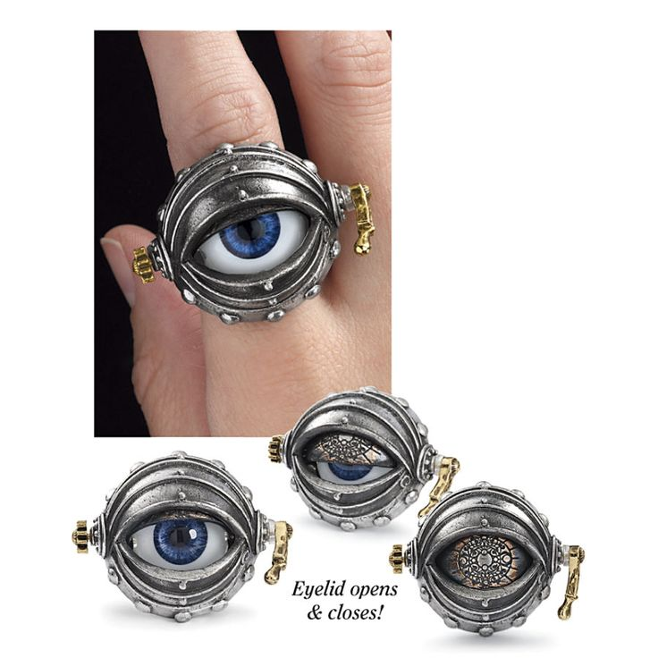 Automatons Eye Ring - New Age, Spiritual Gifts, Yoga, Wicca, Gothic, Reiki, Celtic, Crystal, Tarot at Pyramid Collection