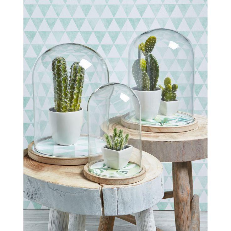 Een glazen stolp is een ideaal accessoire voor in huis.