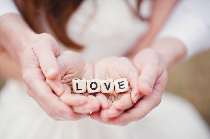 love wood blocks - wedding shoot