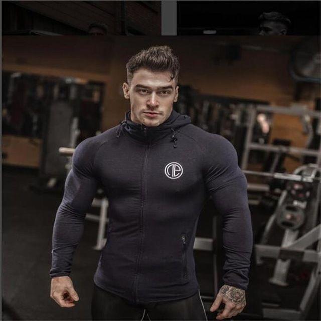 Sale $18.88, Buy Fitness Men Bodybuilding Hoodies Gyms Brand Clothing Men Hoody Zipper Casual Sweatshirt Men's Slim Fit Hooded Jackets
