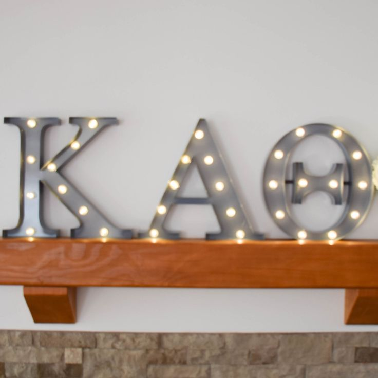 Kappa Alpha Theta sorority marquee letter lights - the perfect decoration for every house, dorm or recruitment room! www.alistgreek.com