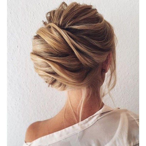 Pretty chignon hairstyle for long hair ❤ liked on Polyvore featuring beauty products, haircare, hair styling tools, hair, hairstyles, detail and embellishment