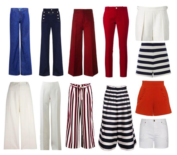 Брюки, джинсы и шорты в Морском стиле