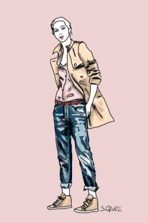 Neu im Blog: Eine aktuelle Werbeanzeige mit Gisele Bündchen zeigt, wie Frau durch das richtige Outfit scheinbar endlos lange Beine bekommt.