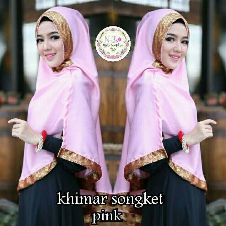Khimar Cantik Modern Model Terbaru Songket By N3S