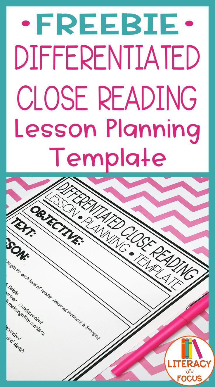 differentiated close reading lesson planning template. Black Bedroom Furniture Sets. Home Design Ideas