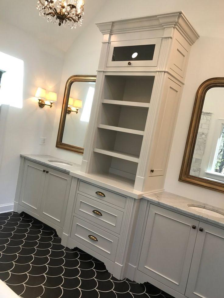 custom bathroom vanity with inset doors fluting detail